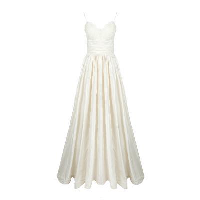 sweet heart line shirring dress